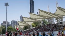 香港でスーパーラグビー初開催。旺角大球場でサンウルブズ対ストーマーズ(C)Getty I…