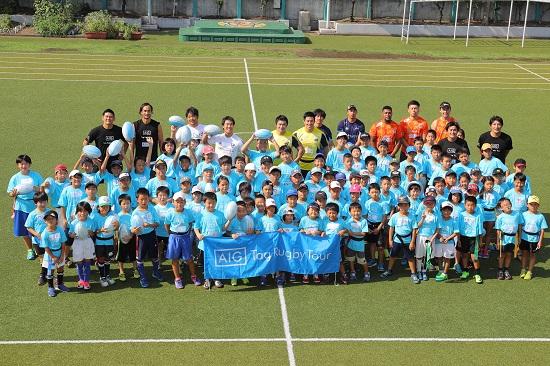 「きっかけはタグラグビー」。東京・青山小グラウンドでAIGタグイベント開催。