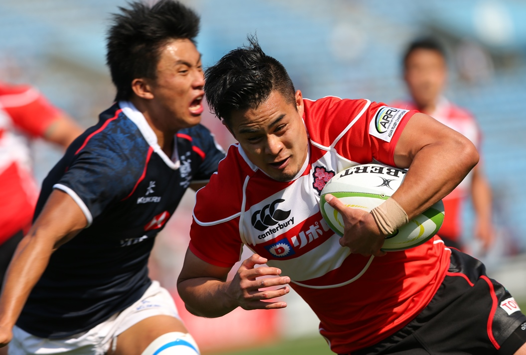 日本代表はアジアチャンピオンシップ第2戦で香港に勝利。CTB田村もトライ奪う(撮影:松本かおり)