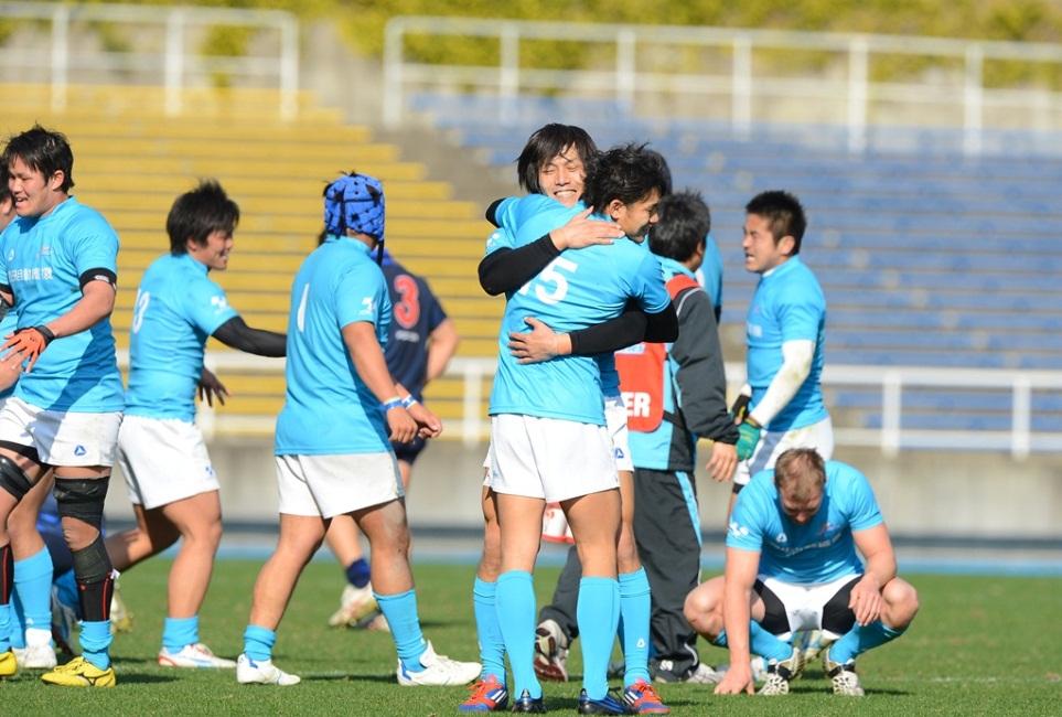 サニックスとの入替戦を制し、トップリーグ復帰を決めた豊田自動織機(撮影:Hiroaki. UENO)