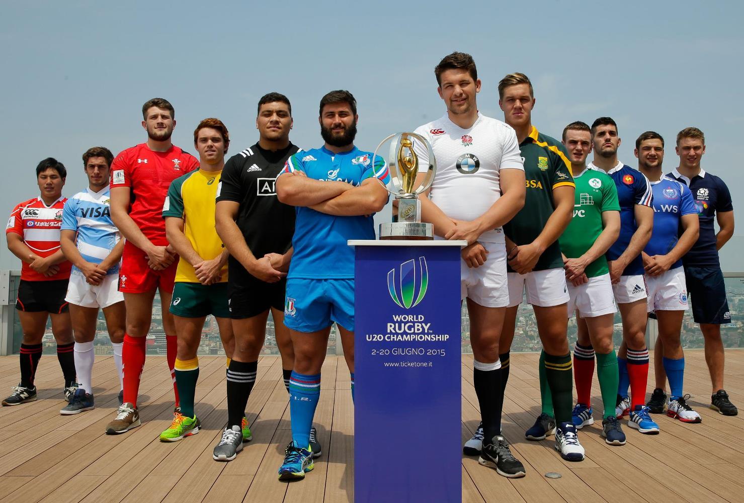 U20世界選手権に挑む各国主将(C)World Rugby, Roberto Bregani