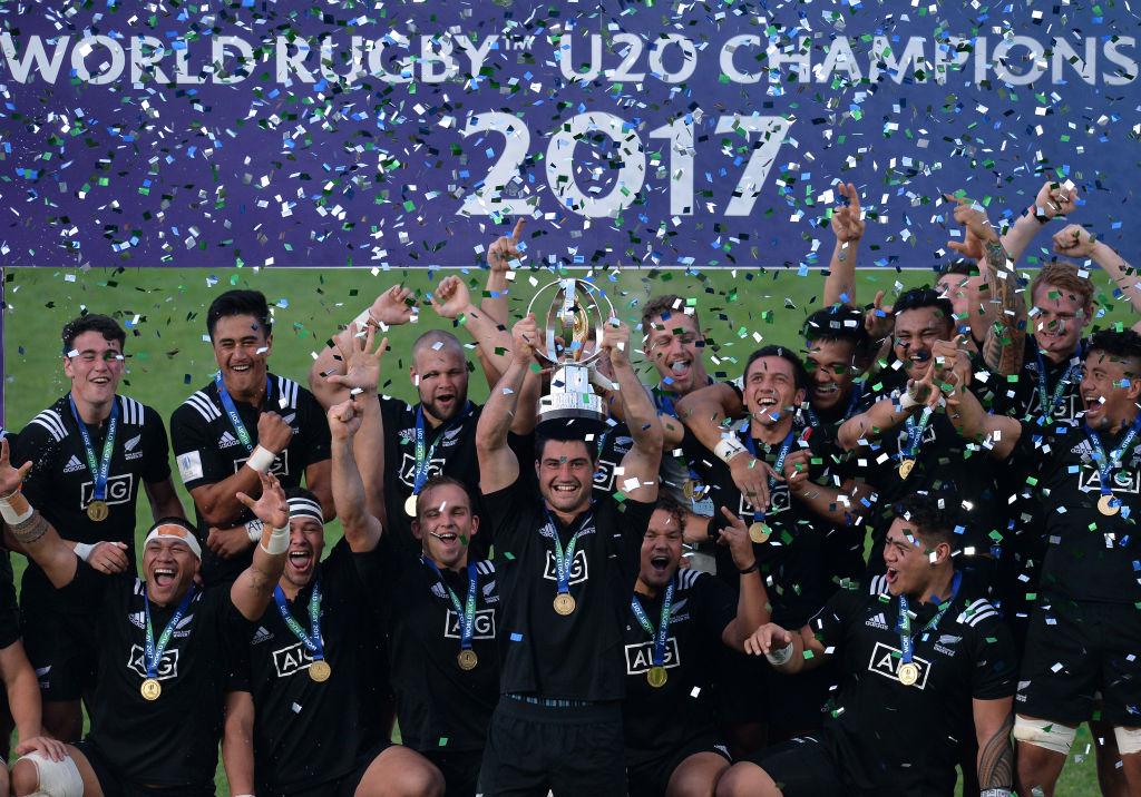 U20世界選手権で2年ぶり6回目の優勝を遂げたNZ、ベイビーブラックス(C)Getty Images