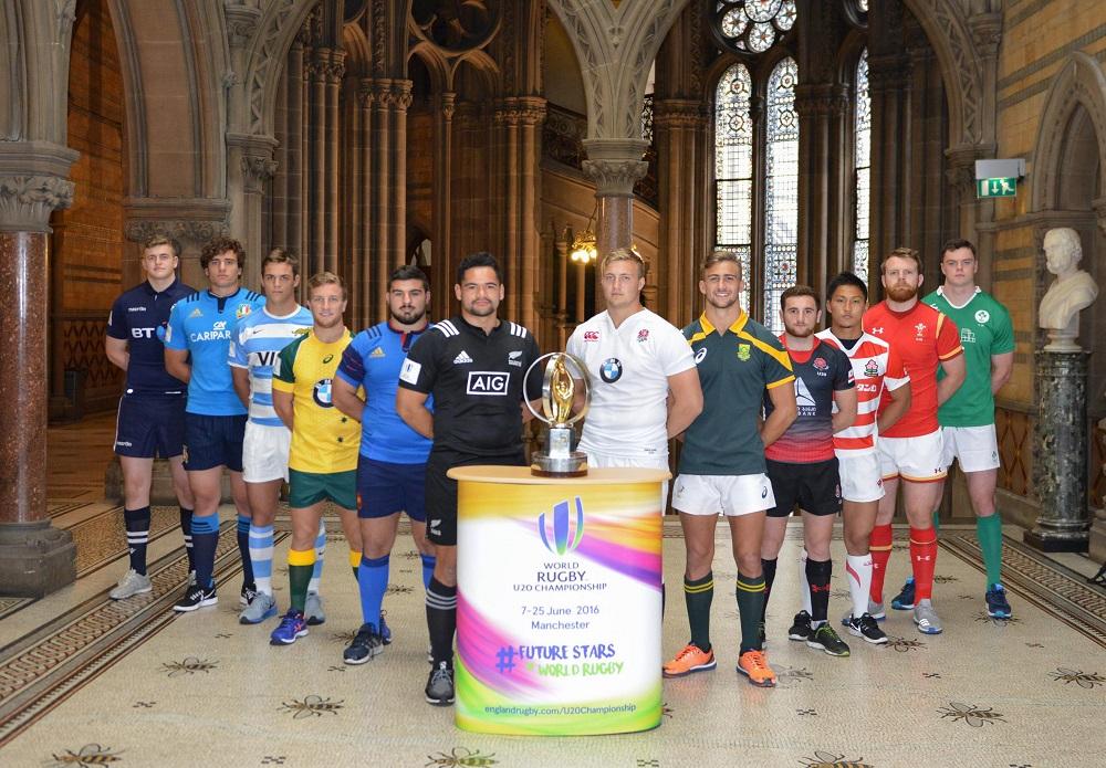 ワールドラグビーU20チャンピオンシップに参加する各国代表の主将たち(C)World Rugby