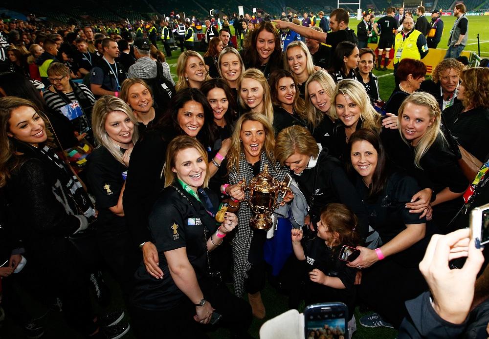 ニュージーランド代表の優勝を支えた奥さんやガールフレンドたち(C)Getty Images