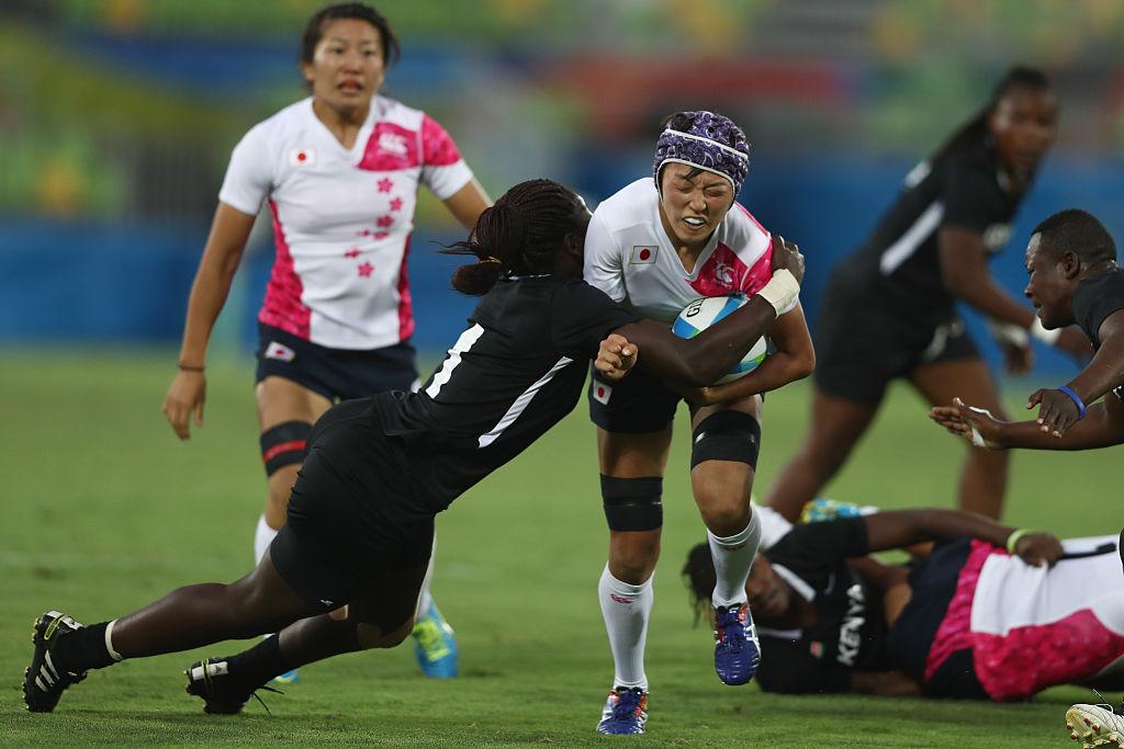 ケニア戦奮闘の横尾千里。後ろは京大出身女子初の五輪選手となった竹内亜弥(C)Getty Images