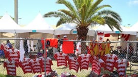 バハマで開催されているコモンウェルスユースゲームズのセブンズ会場にて(C)Getty I…