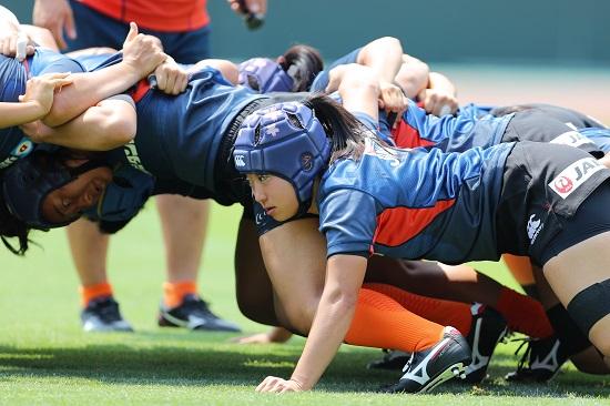フーパーになる。女子日本代表FL塩崎優衣、香港戦は「運動量で勝つ」。
