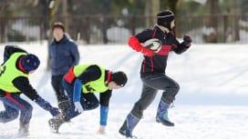 雪上で好プレー、珍プレー連発。津軽雪上ラグビー大会、今年も盛り上がった!